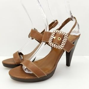 Ralph Lauren LRL 10 M Brown Strappy Open Toe Women